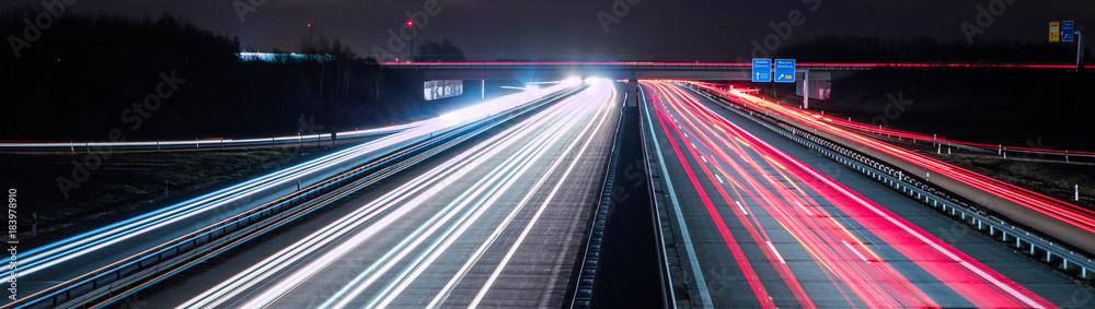 Fototapeta Panorama Datenautobahn