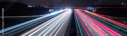 Panorama Datenautobahn Fototapeta