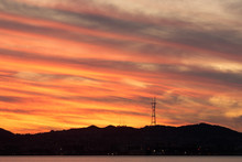 Sutro Tower Sunset As Seen Fro...