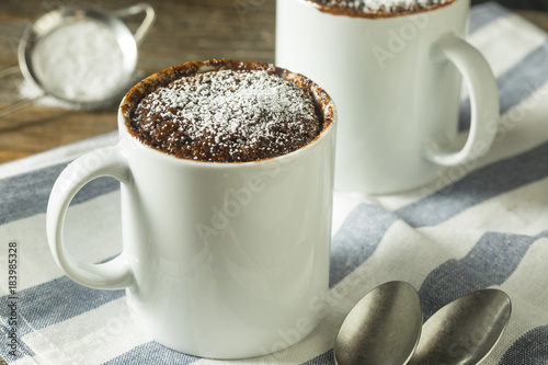 Stickers pour porte Pierre, Sable Homemade Microwave Chocolate Mug Brownies