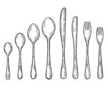 Hand Drawn Fork