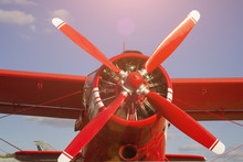 Red Propeller, Airplane