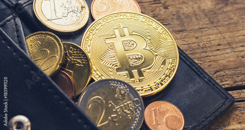 Personal bitcoin wallet with euro coins buy this stock photo and personal bitcoin wallet with euro coins ccuart Choice Image