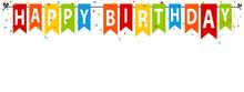 Happy Birthday Party Flags - Editable Vector Illustration