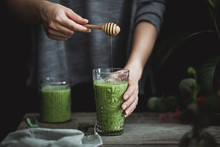 Green Smoothie With Honey