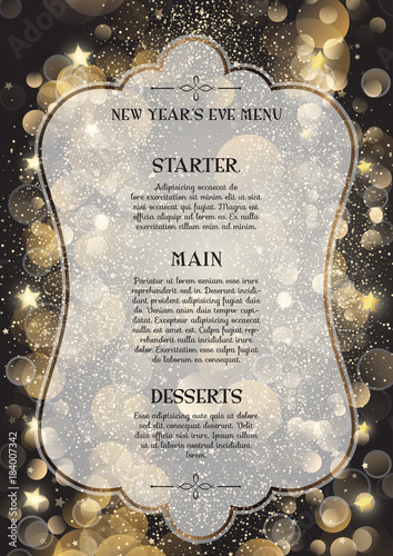 Photo Decorative New Year's Eve menu
