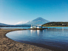 Mount Fuji With Two Swan Pedal...