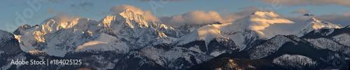 Fototapeta Panorama na Tatry Wysokie Zima obraz