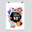 Vector new year 2018 poster design template