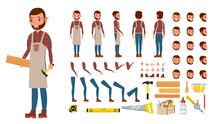 Carpenter Vector. Animated Pro...