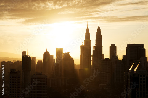 Canvas Prints Kuala Lumpur modern buildings in midtown of modern city
