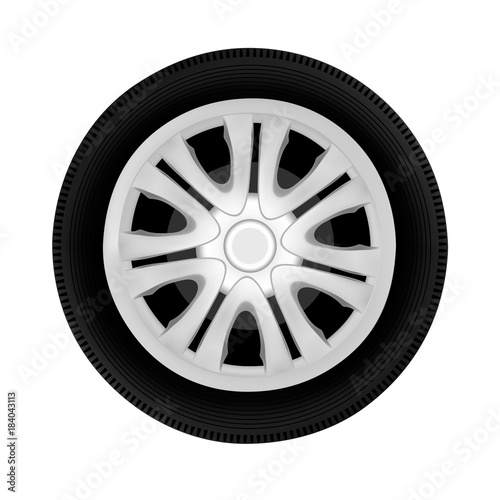 Foto  wheel drive from the cars in vector isolated on white background