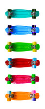 Set Of Colorful Skateboards Is...