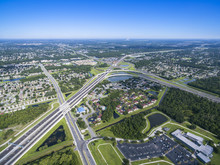 Aerial View Of 408 East West Expressway Orlando Florida