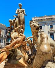 Diana Fountain, Syracuse, Sicily, Italy.