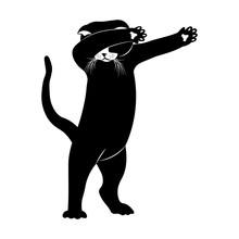 Cat Dance. Vector Illustration.