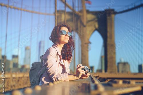 Woman on a bridge - 184055755