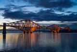 The Forth Rail Bridge crossing between Fife and Edinburgh, Scotland