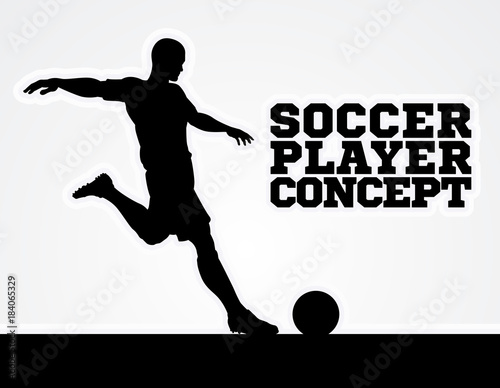 Soccer Football Player Concept Silhouette Canvas Print