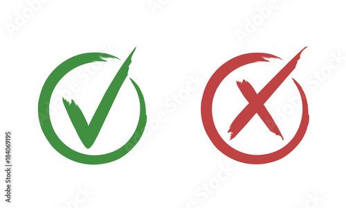 Fotografie, Obraz  Check mark buttons for vote
