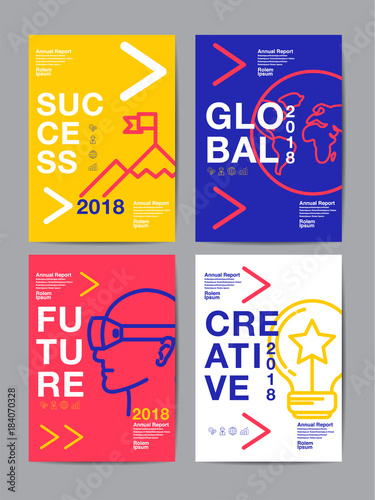 Poster annual report 2018 ,future, business, template layout design, cover book