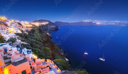 Greece Beautiful Santorini Volcano Caldera Island In Aegean