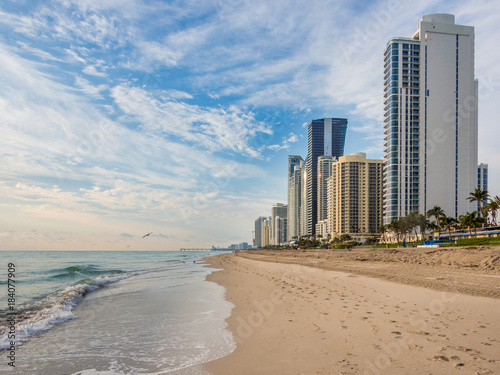 Fotografie, Obraz  Panorama of Sunny Isles Beach city