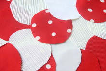 Many Circle Red And White Rag ...