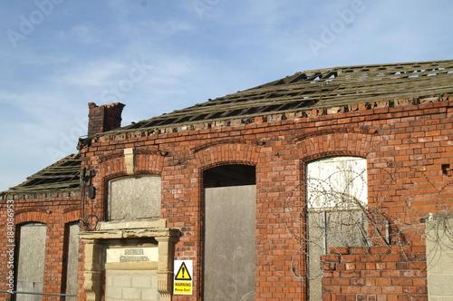 Staande foto Industrial geb. old industrial buildings, kingston upon hull, industrial city landscape
