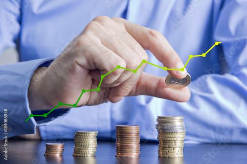 Fotografering  soldi, guadagni, spese, denaro, monete