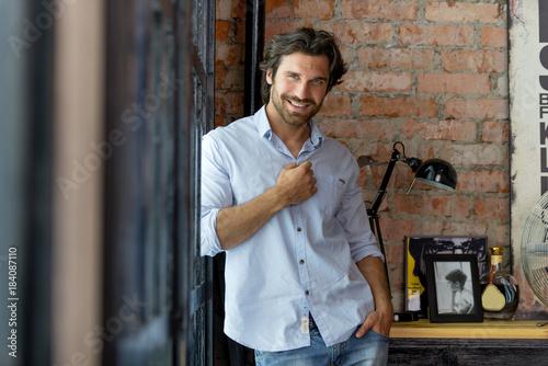 Fotografie, Obraz  Handsome man portrait