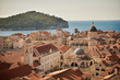 Beautiful scenic view of Dubrovnik city, Croatia on a summer day