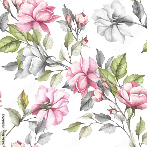 bezszwowy-wzor-z-rozami-recznie-rysowac-akwarela-ilustracja