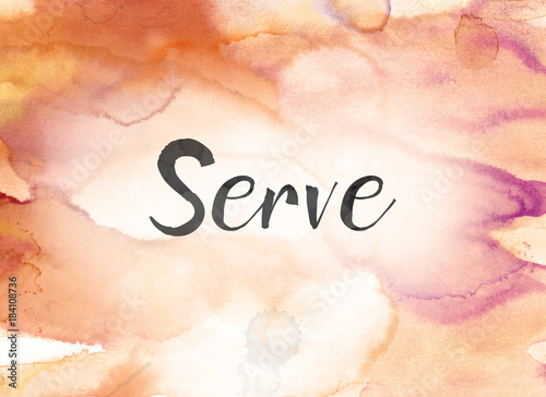Serve Concept Watercolor and Ink Painting Canvas Print