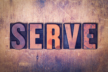 Serve Theme Letterpress Word O...