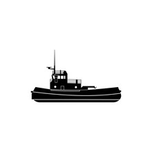 Towboat Icon. Water Transport ...