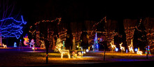 A Christmas Light Display In T...