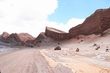 Moon Valley At Atacama Desert,...