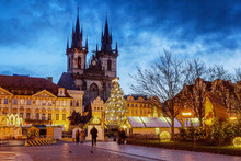 Christmas Old Town Square In Prague.