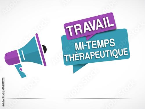 mégaphone : mi-temps thérapeutique Fototapet