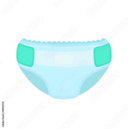 Canvastavla Baby diaper. Vector flat cartoon