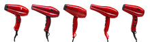 Set Of Five Red Hair Dryers Is...