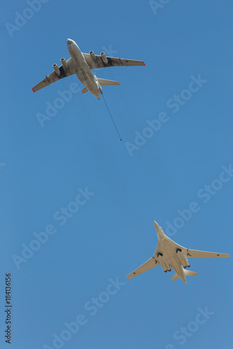 Photo Airplanes in skies over Moscow on Victory Day