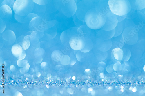 Fotografie, Obraz Abstract blue glitter sparkle background