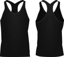 Black Sleeveless T Shirt. Vect...