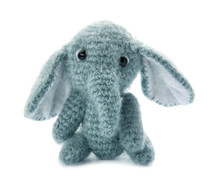 Cute Knitted Toy Elephant On W...