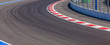 canvas print picture - Motor racing track. Race track curve road