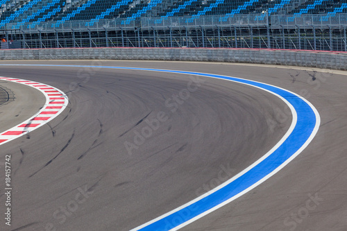 Obraz na płótnie Motor racing track. Race track curve road