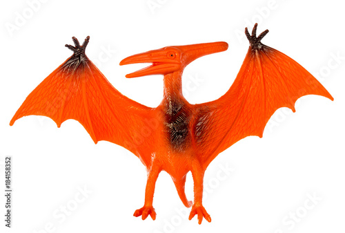 Pterosaur dinosaurs toy isolated on white background ,with clipping path