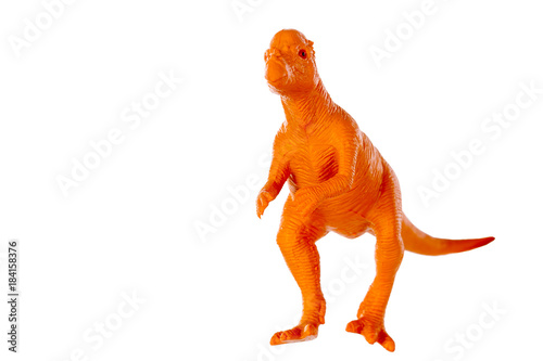 Pachycephalosaurus dinosaurs toy isolated on white background ,with clipping path